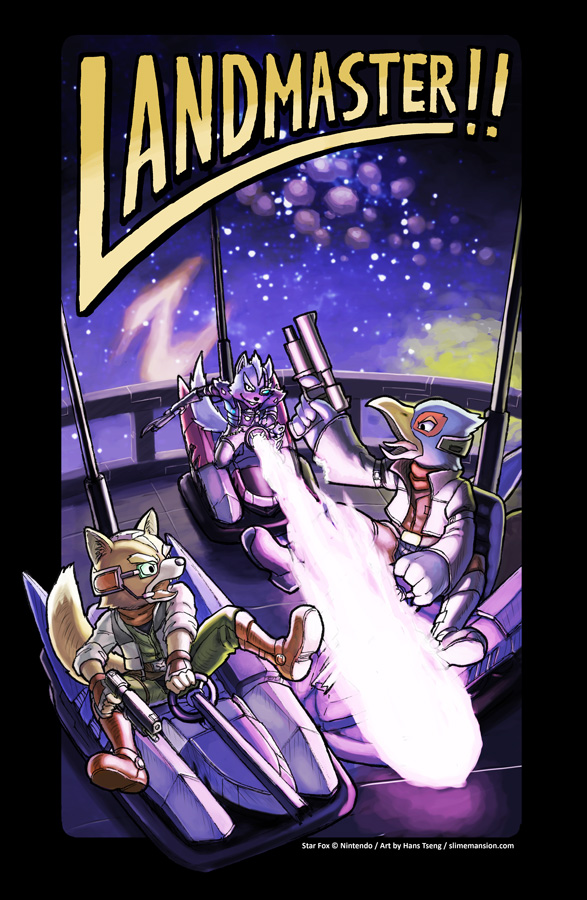 Landmaster!!! (Fox, Falco and Wolf from Star Fox series)