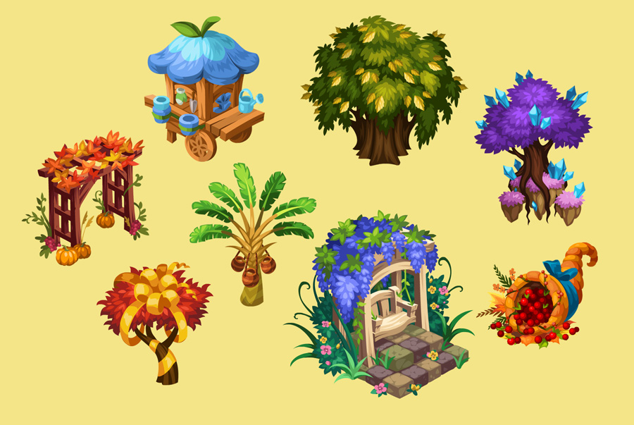 Island Paradise Props