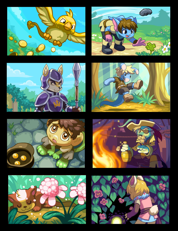 Neopets Card Illustrations