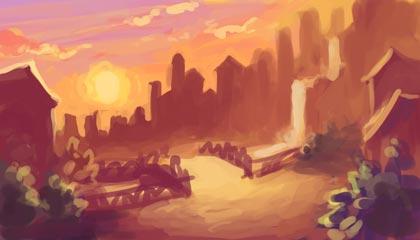 Town Sunset Thumbnail